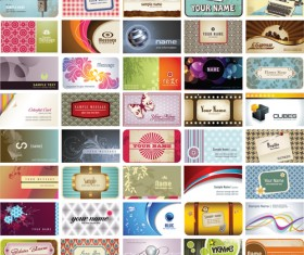 Set of Stylish Cards Vector