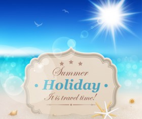 Summer holiday design Elements vector Set 01