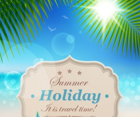Summer holiday design Elements vector Set 04