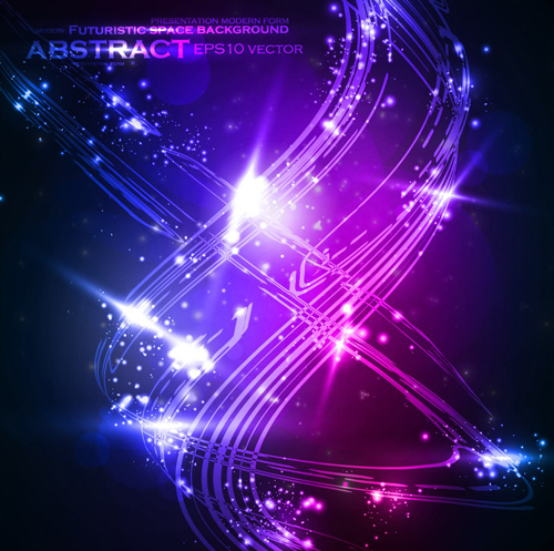 Futuristic Space Abstract Background Vector 01