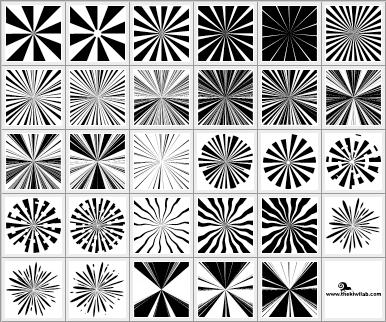 sunburst shapes