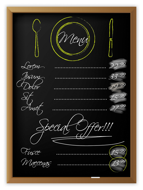 Black Menu Vector Background 05 Vector Background Free