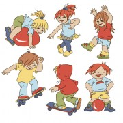 Link toSet of cute cartoon children vector 02