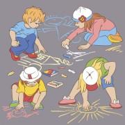 Link toSet of cute cartoon children vector 04