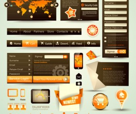 free vector Web elements Collection 02
