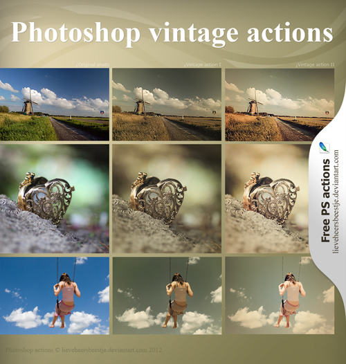 photoshop vintage actions free download