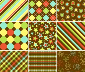 Set of seamless Pattern free vector 01