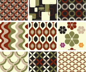 Set of seamless Pattern free vector 03