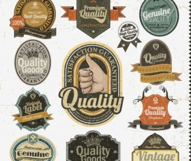 Set of Vintage badges & labels vector 03
