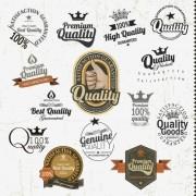 Link toSet of vintage badges & labels vector 04