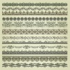 vintage Pattern vector borders 01