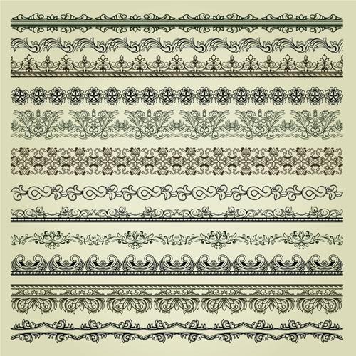 Vintage Hearts Vector Vintage Pattern Vector Borders