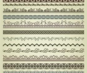 vintage Pattern vector borders 02