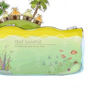 Link toCartoon tropical theme background vector 01