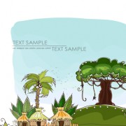 Link toCartoon tropical theme background vector 02