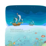 Link toCartoon tropical theme background vector 03