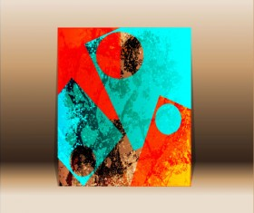 Abstract front cover design elements vector background 02