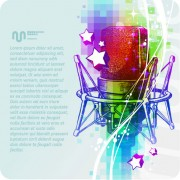 Link toMusic & mike stylish vector background 08