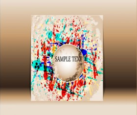 Abstract front cover design elements vector background 05