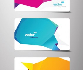 Creative cards background vector 03