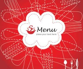 Restaurant menu cover background vector 01