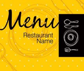 Restaurant menu cover background vector 05
