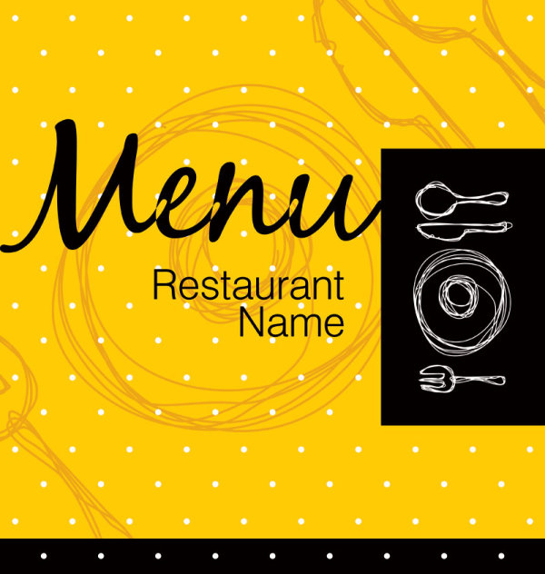 Free eps file restaurant menu cover background vector 05 download
