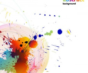 Colorful paint vector 05