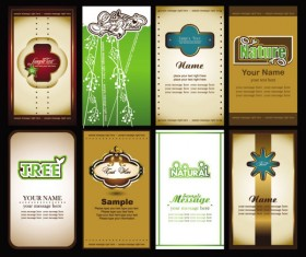 Elements of cards vector 02