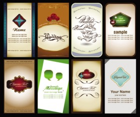 Elements of cards vector 04