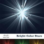 Link toBright light stars vector background