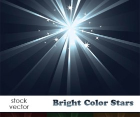 Bright light Stars vector background