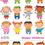 Link toCute happy children elements vector