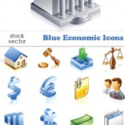 Link toElements of blue economic vector icons
