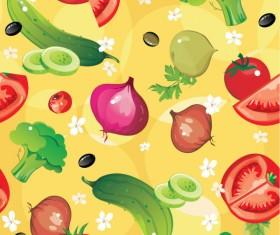 Various cartoon vegetable elements vector 04