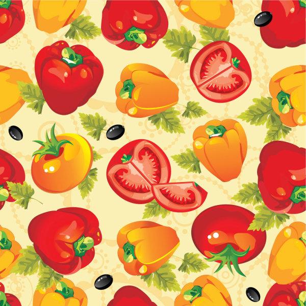 Various cartoon vegetable elements vector 05