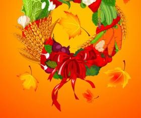 Set of vegetable background vector 01