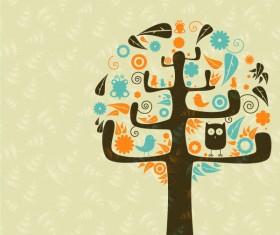 Funny Tree Illustration vector 05