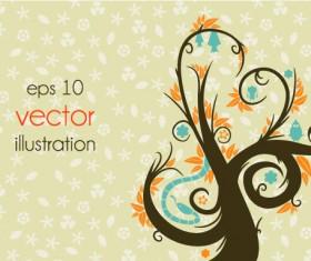 Funny Tree Illustration vector 06