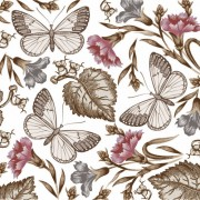 Link toElements of butterfly & flower vector 05