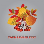 Link toFall leaves vector background 01