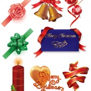 Link toElements of gift decoration vector