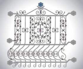 Iron window Style vector 01