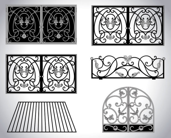 Iron window style vector 02 vector other free download for Partners federal credit union winter garden fl