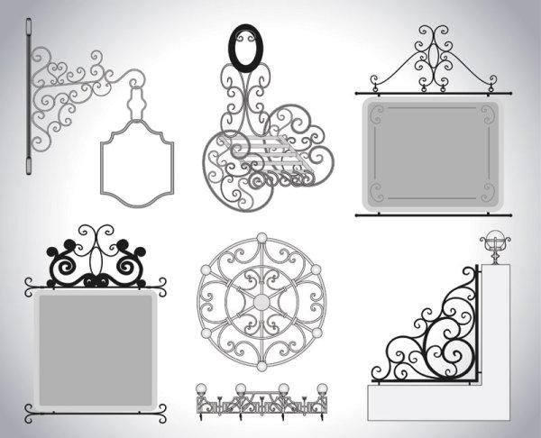Iron window Style vector 03