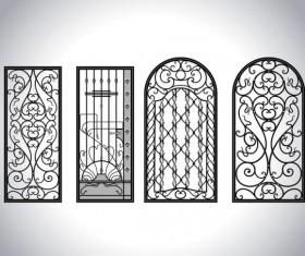 Iron window Style vector 05