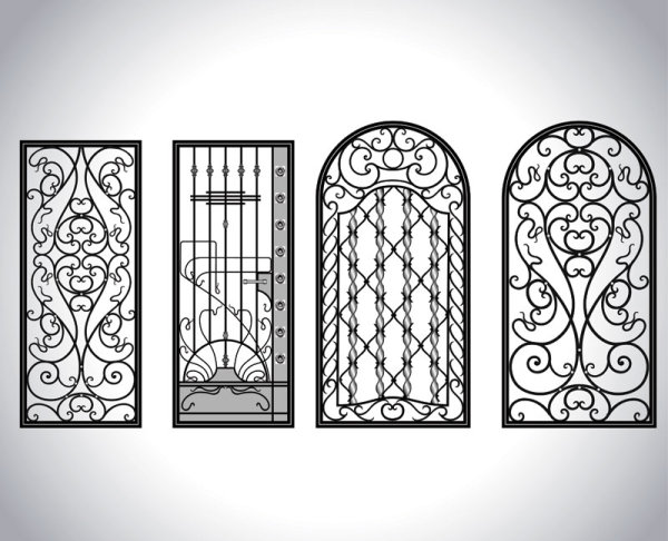 Iron window style vector 05 vector other free download for Window design iron
