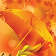 Link toMaple leaves and umbrella vector background 01