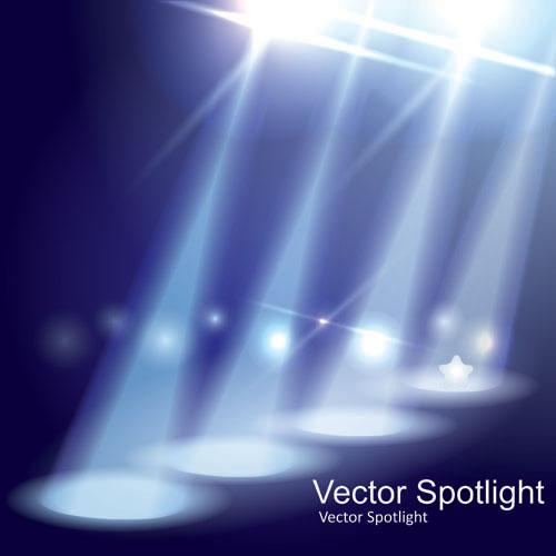 spotlight irradiate effect background vector 02 – over millions, Modern powerpoint
