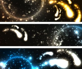 Abstract starry sky vector banner 02